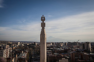 Yerevan, Armenia, as seen from the Kaskat monument in the city centre.