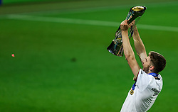 LJUBLJANA, SLOVENIA - JUNE 06: Anton Stach of Germany celebrates with the UEFA European Under-21 Championship trophy following victory in the 2021 UEFA European Under-21 Championship Final match between Germany and Portugal at Stadion Stozice on June 06, 2021 in Ljubljana, Slovenia. Photo by Grega Valancic / Sportida