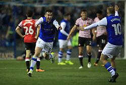Sheffield Wednesday's David Jones celebrates their first goal