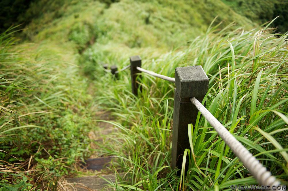 Hiking down from Banpingshan.
