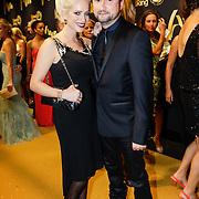 NLD/Amsterdam/20121019- Televiziergala 2012, Dennis Weening en partner Stella Maassen