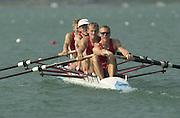 2003 - FISA World Cup Rowing Milan Italy.30/05/2003  - Photo Peter Spurrier.DEN LM 4- Bow, Bo HELLEBERG, Thomas EBERT, Thor KRISTENSEN and Eskild EBBESEN, [Mandatory Credit: Peter Spurrier:Intersport Images]