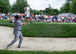 June 1, 2018 - Dublin, OH, U.S. - DUBLIN, OH - JUNE 01: Jason Dufner hit from a bunker during the second round of the Memorial Tournament at Muirfield Village Golf Club in Dublin, Ohio on June 01, 2018.(Photo by Jason Mowry/Icon Sportswire) (Credit Image: © Jason Mowry/Icon SMI via ZUMA Press)