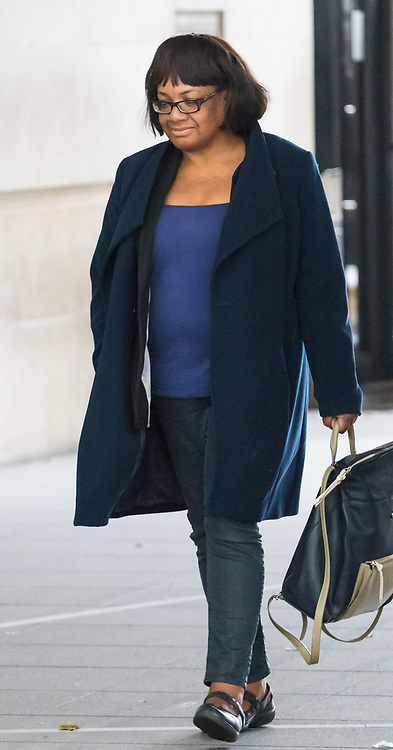 London, October 29 2017. Shadow Home secretary Diane Abbott arrives at the BBC in London to appear on the Andrew Marr Show. © Paul Davey