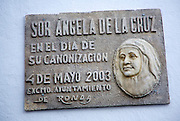 Memorial to the canonisation of Sister Angela de la Cruz 4 May 2003- María de los Ángeles Guerrero González,  Ronda, Spain