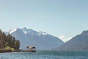 Wooden Pier, Lago Traful, Neuqu?n Region, Argentina, South America