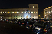 The blue cars outside of Quirinale during meeting for the greetings from the president of the republic for the new year and Christmas 21 december 2015 . Christian Mantuano / OneShot<br /> <br /> Auto blu in piazza del Quirinale nel corso della riunione per i saluti del presidente della repubblica per il nuovo anno e per gli auguri di Natale 21 dicembre, 2015. Christian Mantuano / OneShot