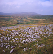 AJEM79 Limestone pavement Yorkshire Dales national park England