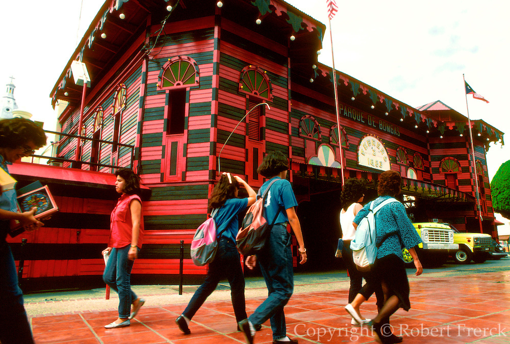 PUERTO RICO, PONCE second largest city on the island; the Parque de Bombas, an ornate firehouse on the main plaza