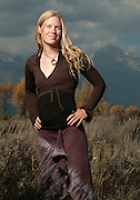PRICE CHAMBERS / NEWS&GUIDE<br /> Awarded the Department of the Interior's Citizens Award for Bravery for the 2010 Grand Teton Lightning rescue, Anneka Door continues guiding for Exum and works as a ski patroller for Snow King.