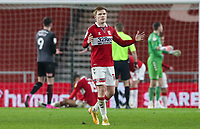 Middlesbrough's Duncan Watmore reacts after his side concede a penalty<br /> <br /> Photographer Alex Dodd/CameraSport<br /> <br /> The EFL Sky Bet Championship - Middlesbrough v Rotherham United - Wednesday 27th January 2021 - Riverside Stadium - Middlesbrough<br /> <br /> World Copyright © 2021 CameraSport. All rights reserved. 43 Linden Ave. Countesthorpe. Leicester. England. LE8 5PG - Tel: +44 (0) 116 277 4147 - admin@camerasport.com - www.camerasport.com