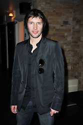 Singer songwriter JAMES BLUNT at a screening of the short film 'The Volunteer' held at the Courthouse Hilton Hotel, 19-21 Great Marlborough Street, London W1 on 26th October 2009.