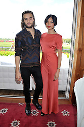 DOUGLAS BOOTH and GEMMA CHAN at the Audi International Polo Day held at Guards Polo Club, Smith's Lawn, Windsor on 22nd July 2012.