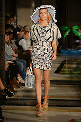 © Licensed to London News Pictures. 17/09/2016.  Model on the catwalk at the ASHLEY ISHAM Spring/Summer 2017 show. Models, buyers, celebrities and the stylish descend upon London Fashion Week for the Spring/Summer 2017 clothes collection shows. London, UK. Photo credit: Ray Tang/LNP<br /> <br /> <br /> London, UK. Photo credit: Ray Tang/LNP