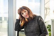 Vanessa Springora (born March 16, 1972), in the offices of editing house Julliard in the 13th arrondissement of Paris. Vanessa Springora is the author of the book Le Consentement (The Consent) published in 2020, in which she denounces the sexual relations that the writer Gabriel Matzneff started with her when she was 14 years old and he 49. The book caused a scandal on the cultural, political and media support from which Gabriel Matzneff benefited. Paris, France, January 17, 2020. <br /> Vanessa Springora (nee le 16 mars 1972), dans les bureaux des Editions Julliard dans le 13e arrondissement de Paris. Vanessa Springora est l auteure du livre Le Consentement publie en 2020 dans lequel elle denonce les relations sexuelles que l ecrivain Gabriel Matzneff a commence avec elle alors qu elle avait 14 ans et lui 49. Le livre a provoque un scandale a cause des les soutiens culturels, politiques et médiatiques dont a beneficie Gabriel Matzneff. Paris, France, 17 janvier 2020.