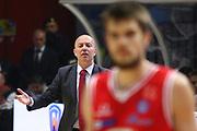 DESCRIZIONE : Cremona Lega A 2015-2016 Vanoli Cremona Grissin Bon Reggio Emilia<br /> GIOCATORE : Massimiliano Menetti Coach<br /> SQUADRA : Grissin Bon Reggio Emilia<br /> EVENTO : Campionato Lega A 2015-2016<br /> GARA : Vanoli Cremona  Grissin Bon Reggio Emilia<br /> DATA : 07/11/2015<br /> CATEGORIA : Coach<br /> SPORT : Pallacanestro<br /> AUTORE : Agenzia Ciamillo-Castoria/F.Zovadelli<br /> GALLERIA : Lega Basket A 2015-2016<br /> FOTONOTIZIA : Cremona Campionato Italiano Lega A 2015-16  Vanoli Cremona Grissin Bon Reggio Emilia<br /> PREDEFINITA : <br /> F Zovadelli/Ciamillo