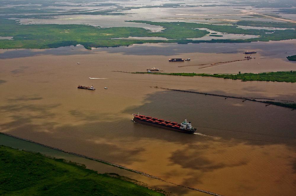 Head of Passes, Mile Zero of the Mississippi River, Plaquemines Parish, Louisiana, USA.