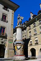 Moses Fountain (Mosesbrunnen) on Kramgasse, Bern, Canton Bern, Switzerland