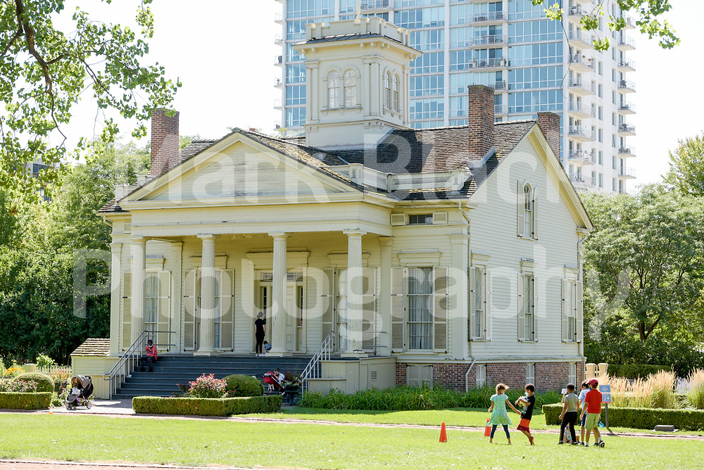 Henry B. Clarke House is a middle-class Greek Revival structure, built in 1836 and is Chicago's oldest surviving home on Wednesday, Aug. 19, 2020.  Photo by Mark Black