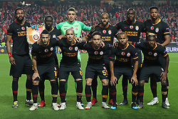 February 21, 2019 - Lisbon, Portugal - Lineup of the Galatasaray AS team during the Europa League 2018/2019 footballl match between SL Benfica vs Galatasaray AS. (Credit Image: © David Martins/SOPA Images via ZUMA Wire)