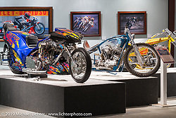 """Built for Speed"" exhibition curated by Michael Lichter and Paul D'Orleans in the Russ Brown Events Center as part of the annual ""Motorcycles as Art"" series at the Sturgis Buffalo Chip during the Black Hills Motorcycle Rally. SD, USA. August 7, 2014.  Photography ©2014 Michael Lichter."