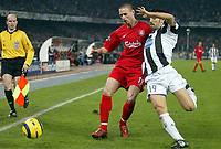 Fotball<br /> Champions League 2004/05<br /> Juventus v Liverpool<br /> 13. april 2005<br /> Foto: Digitalsport<br /> NORWAY ONLY<br /> ANTHONY LE TALLEC (LIV) / GIANLUCA ZAMBROTTA (JUV)