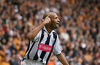 Photo: Rich Eaton.<br /> <br /> Wolverhampton Wanderers v West Bromwich Albion. Coca Cola Championship. Play off Semi Final, 1st Leg. 13/05/2007. West Broms Diomansy Kamara scores in the second half to make it 3-2 to West Brom and celebrates