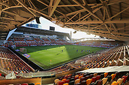 General stadium view inside the Brentford Community Stadium before the EFL Sky Bet Championship match between Brentford and Reading at Brentford Community Stadium, Brentford, England on 19 December 2020.