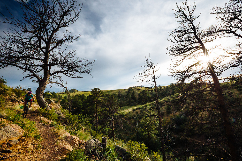 Heather Goodrich rides the Canyons Trail in Curt Gowdy State Park in Eastern Wyoming.
