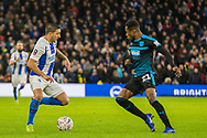 Anthony Knockhaert (Brighton) & Kyle Edwards (West Brom) during the FA Cup fourth round match between Brighton and Hove Albion and West Bromwich Albion at the American Express Community Stadium, Brighton and Hove, England on 26 January 2019.