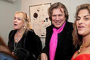 LOUISE FENNELL; THEO FENNELL, Do Not Abandon Me - private view od wok by Tracey Emin alongside that of Louise Bourgeois. <br /> Hauser & Wirth London, 15 Old Bond Street, London, 17 February 2011. -DO NOT ARCHIVE-© Copyright Photograph by Dafydd Jones. 248 Clapham Rd. London SW9 0PZ. Tel 0207 820 0771. www.dafjones.com.