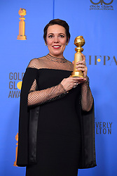 January 6, 2019 - Los Angeles, California, U.S. - Olivia Colman in the Press Room during the 76th Annual Golden Globe Awards at The Beverly Hilton Hotel. (Credit Image: © Kevin Sullivan via ZUMA Wire)