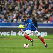 PARIS, FRANCE - March 25:  Kylian Mbappe #10 of France in action during the France V Iceland, 2020 European Championship Qualifying, Group Stage at  Stade de France on March 25th 2019 in Paris, France (Photo by Tim Clayton/Corbis via Getty Images)