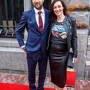 NLD/Amsterdam/20150625 - Opening the Dutchess Amsterdam, Miryanne van Reeden en vriend Frank 't Hoen.