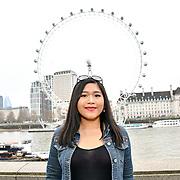 Fia Almanda of Britain's Got Talent attend Celeb Bri Tea, on board the BB Bakery bus on 22 March 2019, London, UK.