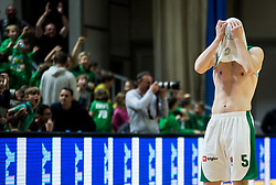 Paolo Marinelli of Krka reacts after the basketball match between KK Petrol Olimpija and KK Krka in Round #11 of ABA League 2018/19, on December 16, 2018 in Arena Tivoli, Ljubljana, Slovenia. Photo by Vid Ponikvar / Sportida