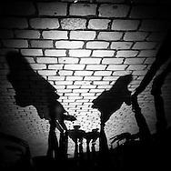 France Paris. shadows of pedestrians/ Ombres des passants dans les rues