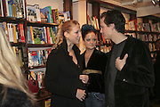 Lady Ella Windsor, Lady Eloise Anson and Robert Denning, Book launch of Pretty Things by Liz Goldwyn at Daunt <br />Books, Marylebone High Street. London 30 November 2006.   ONE TIME USE ONLY - DO NOT ARCHIVE  © Copyright Photograph by Dafydd Jones 248 CLAPHAM PARK RD. LONDON SW90PZ.  Tel 020 7733 0108 www.dafjones.com