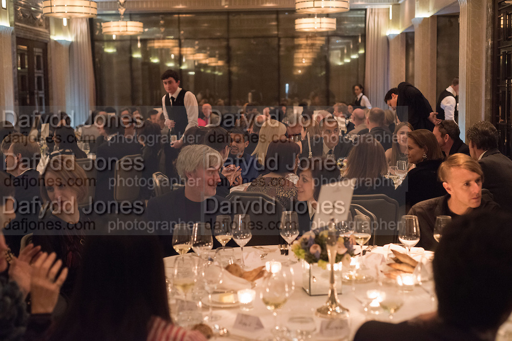 Anish Kapoor and Lee Ufan preview dinner hosted by the Lisson Gallery after the opening on Bell St. The Connaught. London. 23 March 2015