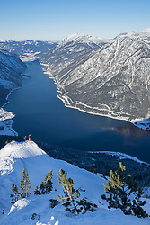 Scenic view of snowcapped mountain and lake
