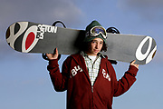 Portrait of snowboarder
