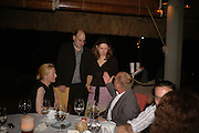 Tilda Swinton, Mark Lawson, Joanna Briscoe and Tim Lott. Dinner at L'Archipel Restaurant hosted by Patrice Binet-Descamps. Prince Maurice. Mauritius. 25 May 2006. ONE TIME USE ONLY - DO NOT ARCHIVE  © Copyright Photograph by Dafydd Jones 66 Stockwell Park Rd. London SW9 0DA Tel 020 7733 0108 www.dafjones.com