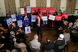 © Licensed to London News Pictures. 03/05/2017. Batley, UK. Labour shadow health secretary Jonathan Ashworth MP speaks at an event in Batley, West Yorkshire, to launch Labour's policy on healthcare and the NHS during the 2017 general election campaign. He promised that Labour would immediately stop proposed A&E and hospital closures across England. Photo credit : Ian Hinchliffe/LNP