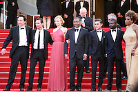 Matthew Mcconaughey, Macy Gray, Nicole Kidman, Lee Daniels, John Cusack, Zac Efron, David Oyelowo, Macy Gray,  on the red steps at The Paperboy gala screening red carpet at the 65th Cannes Film Festival France. Thursday 24th May 2012 in Cannes Film Festival, France.
