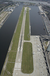 Image ©Licensed to i-Images Picture Agency. Aerial views. United Kingdom.<br /> LONDON CITY AIRPORT. Picture by i-Images