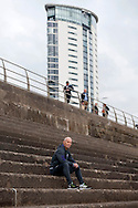 Bob Bradley overlooking the beach in front of the tallest building in Wales after he is officially announced as the new Swansea city manager at a press conference at the Marriott Hotel in Swansea, South Wales on Friday 7th October 2016.  pic by Phil Rees, Andrew Orchard sports photography