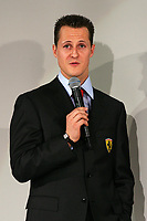 German Ferrari driver Michael Schumacher during the official presentation of the new F2005 F1 car at the team's headquarters in Maranello.<br /> <br /> <br /> <br /> Michael Schumacher durante la presentazione della nuova Ferrari F2005.<br /> <br /> <br /> <br /> Photo Munch / Graffiti