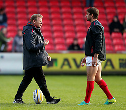 Mark McCall director of rugby for Saracens talks with his players before the match- Mandatory by-line: Matt McNulty/JMP - 20/11/2016 - RUGBY - AJ Bell Stadium - Sale, England - Sale Sharks v Saracens - Aviva Premiership