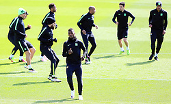 Kelechi Iheanacho of Manchester City  trains with his team mates - Mandatory byline: Matt McNulty/JMP - 25/04/2016 - FOOTBALL - City Football Academy - Manchester, England - Manchester City v Real Madrid - UEFA Champions League Training Session