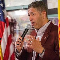 042815       Cable HooverN<br /> <br /> New Mexico State University  athletic director Mario Moccia talks about the NMSU athletics programs Thursday at Sammy C's in Gallup.